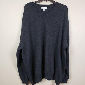 Turnbury Dark Gray Cashmere Sweater 3X Unisex
